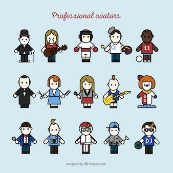 Coleção avatars profissionais