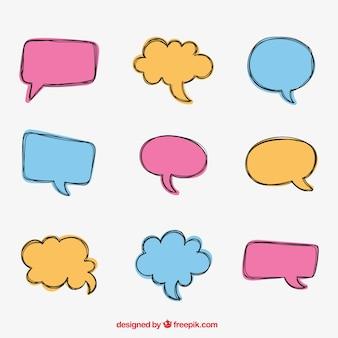 Coleção bolha conversa