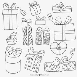 Coleção da caixa de presente