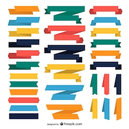 Coleção de fitas coloridas