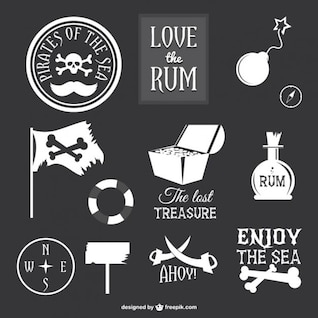Coleção de ícones de piratas