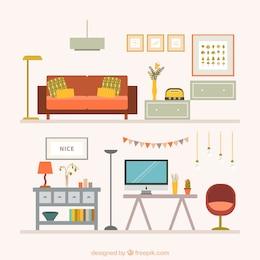 Coleção de móveis de casa