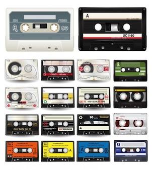 Coleção de vetores de áudio cassetes