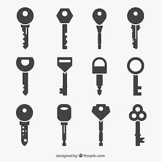 Coleção dos ícones chave