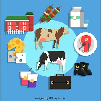 Coleção dos ícones da Agricultura
