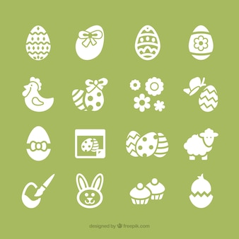 Coleção dos ícones da Páscoa