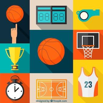 Coleção dos ícones do basquetebol