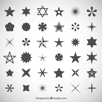 Coleção dos ícones Estrelas