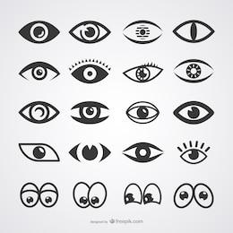 Coleção dos ícones Olhos