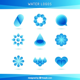 Coleção logos água