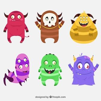 Coleção monstros engraçados