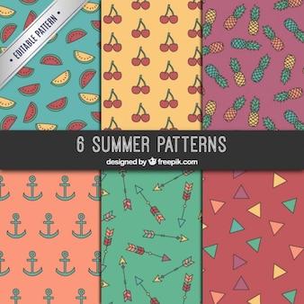 Coleção padrões de Verão