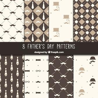 Coleção padrões dia dos pais