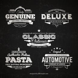 Coleção retro emblemas