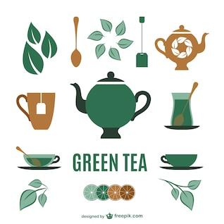 Coleta de elementos do chá