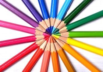 coleta de lápis de cor