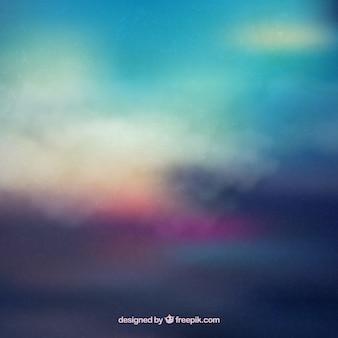 Por do sol colorido fundo abstrato