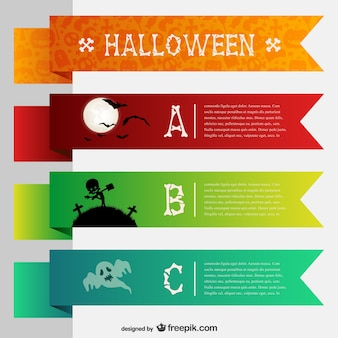 Modelos de banners coloridos para o dia das bruxas