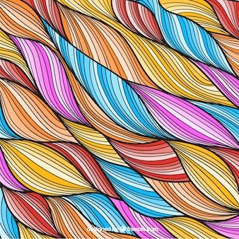 Pele colorida no estilo desenhado mão