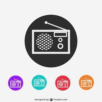 ícones coloridos de rádio