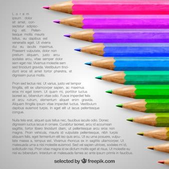 Colorido modelo lápis