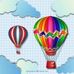 Coloridos balões de ar quente