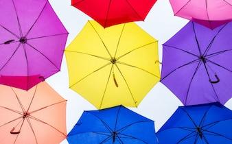 Coloridos guarda-chuvas