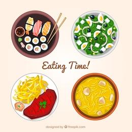 Comendo a hora!