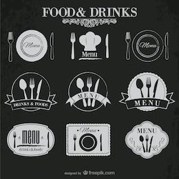 Comida e bebida adesivos