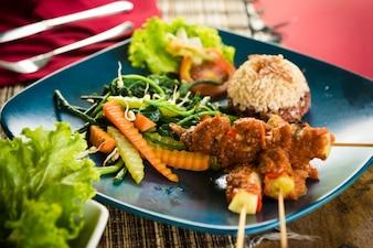 Comida orgânica de Bali