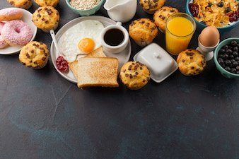 Comida para café da manhã