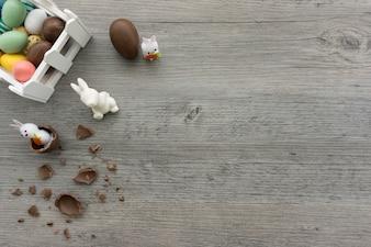 Composição de Easter com espaço para mensagens