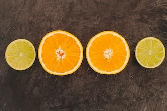 Composição de laranja e limão