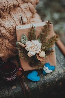 Composição decorativa, peito, presentes de Natal para o exterior