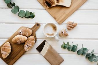 Composição deliciosa do café da manhã