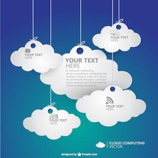 Computação em nuvem vetor