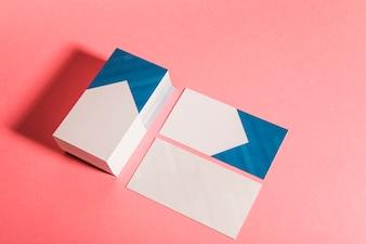 Conceito de cartão de negócios corporativo