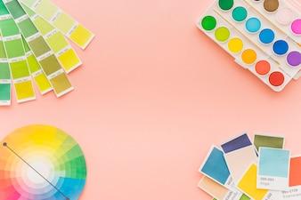 Conceito de criatividade com diferentes cores
