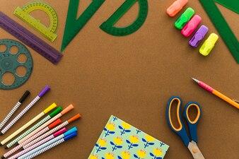 Conceito de criatividade com elementos de arte