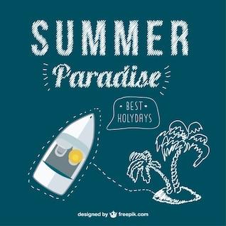 Conceito de viagem de verão vetor