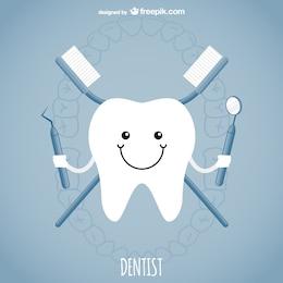 Conceito dentista vector