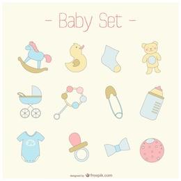 Conjunto bebê vetor