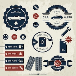 Conjunto de modelos emblemas do carro