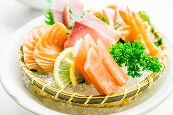 Conjunto de sashimi misturado