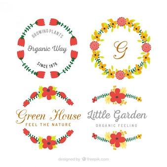 conjunto distintivo floral