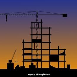 Construção silhueta