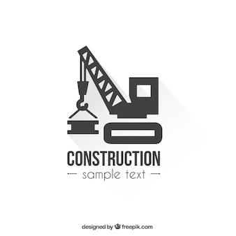 Logotipo modelo de construção