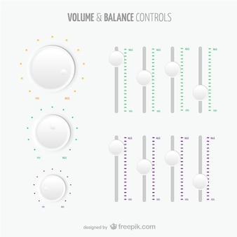 Controles de volume e equilíbrio