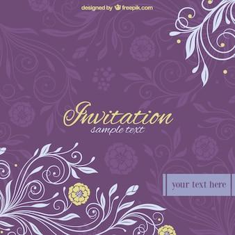 Convite de casamento floral vetor livre