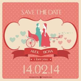 Convite de casamento vetor livre
